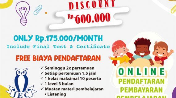 IEC Bogor Buka Kelas Online English For Kids
